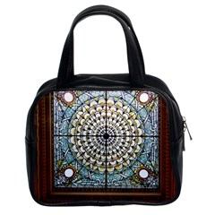 Stained Glass Window Library Of Congress Classic Handbags (2 Sides)