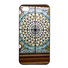 Stained Glass Window Library Of Congress Apple Iphone 4/4s Seamless Case (black) by Nexatart