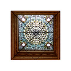 Stained Glass Window Library Of Congress Acrylic Tangram Puzzle (4  X 4 )
