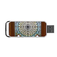 Stained Glass Window Library Of Congress Portable Usb Flash (two Sides) by Nexatart