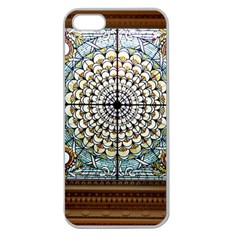 Stained Glass Window Library Of Congress Apple Seamless Iphone 5 Case (clear)