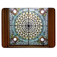 Stained Glass Window Library Of Congress Samsung Galaxy Tab 7  P1000 Flip Case by Nexatart