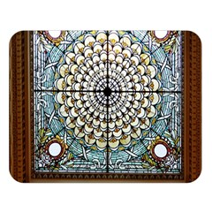 Stained Glass Window Library Of Congress Double Sided Flano Blanket (large)