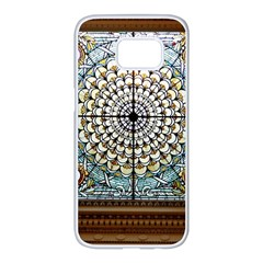 Stained Glass Window Library Of Congress Samsung Galaxy S7 Edge White Seamless Case by Nexatart