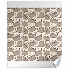 Pusheen Wallpaper Computer Everyday Cute Pusheen Canvas 16  X 20   by Nexatart