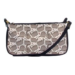 Pusheen Wallpaper Computer Everyday Cute Pusheen Shoulder Clutch Bags by Nexatart