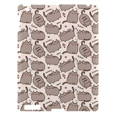 Pusheen Wallpaper Computer Everyday Cute Pusheen Apple Ipad 3/4 Hardshell Case by Nexatart