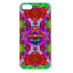 Fantasy   Florals  Pearls In Abstract Rainbows Apple Seamless Iphone 5 Case (color) by pepitasart