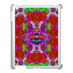 Fantasy   Florals  Pearls In Abstract Rainbows Apple Ipad 3/4 Case (white) by pepitasart