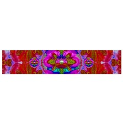 Fantasy   Florals  Pearls In Abstract Rainbows Flano Scarf (small) by pepitasart