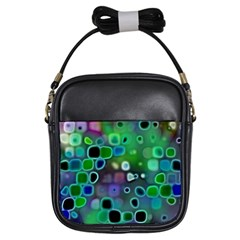 Psychedelic Lights 1 Girls Sling Bags by MoreColorsinLife