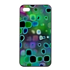 Psychedelic Lights 1 Apple Iphone 4/4s Seamless Case (black) by MoreColorsinLife