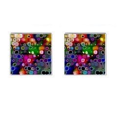 Psychedelic Lights 2 Cufflinks (square) by MoreColorsinLife