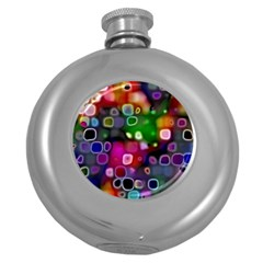 Psychedelic Lights 2 Round Hip Flask (5 Oz) by MoreColorsinLife