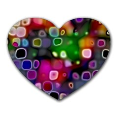 Psychedelic Lights 2 Heart Mousepads by MoreColorsinLife