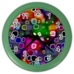 Psychedelic Lights 2 Color Wall Clocks by MoreColorsinLife