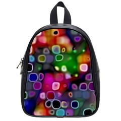 Psychedelic Lights 2 School Bag (small) by MoreColorsinLife