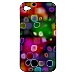 Psychedelic Lights 2 Apple Iphone 4/4s Hardshell Case (pc+silicone) by MoreColorsinLife