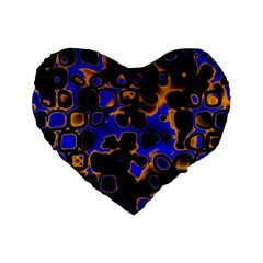 Psychedelic Lights 5 Standard 16  Premium Heart Shape Cushions by MoreColorsinLife