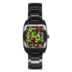 Psychedelic Lights 6 Stainless Steel Barrel Watch by MoreColorsinLife