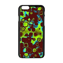Psychedelic Lights 6 Apple Iphone 6/6s Black Enamel Case by MoreColorsinLife
