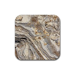 Background Structure Abstract Grain Marble Texture Rubber Coaster (square)