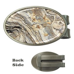 Background Structure Abstract Grain Marble Texture Money Clips (oval)
