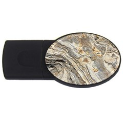 Background Structure Abstract Grain Marble Texture Usb Flash Drive Oval (2 Gb)