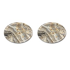 Background Structure Abstract Grain Marble Texture Cufflinks (oval)