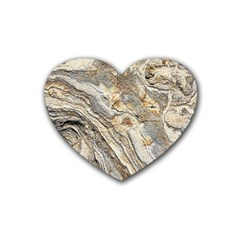 Background Structure Abstract Grain Marble Texture Heart Coaster (4 Pack)  by Nexatart
