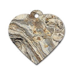 Background Structure Abstract Grain Marble Texture Dog Tag Heart (two Sides)