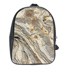 Background Structure Abstract Grain Marble Texture School Bag (large)