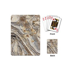 Background Structure Abstract Grain Marble Texture Playing Cards (mini)  by Nexatart