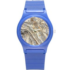 Background Structure Abstract Grain Marble Texture Round Plastic Sport Watch (s) by Nexatart