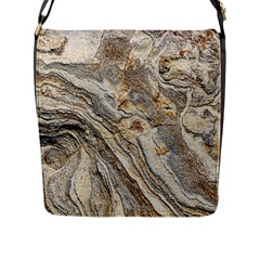 Background Structure Abstract Grain Marble Texture Flap Messenger Bag (l)  by Nexatart