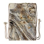 Background Structure Abstract Grain Marble Texture Drawstring Bag (Large) Front