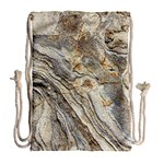 Background Structure Abstract Grain Marble Texture Drawstring Bag (Large) Back
