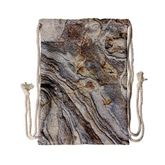 Background Structure Abstract Grain Marble Texture Drawstring Bag (small)