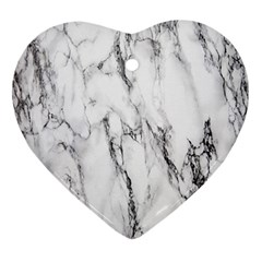 Marble Granite Pattern And Texture Ornament (heart)
