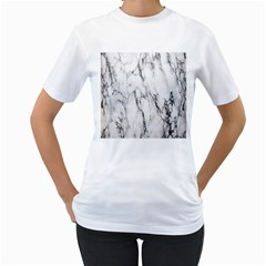 Marble Granite Pattern And Texture Women s T Shirt (white) (two Sided)