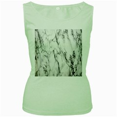 Marble Granite Pattern And Texture Women s Green Tank Top