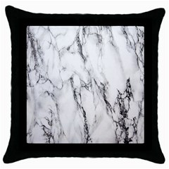Marble Granite Pattern And Texture Throw Pillow Case (black) by Nexatart