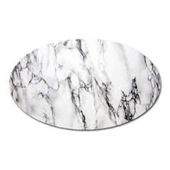 Marble Granite Pattern And Texture Oval Magnet by Nexatart