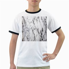 Marble Granite Pattern And Texture Ringer T Shirts