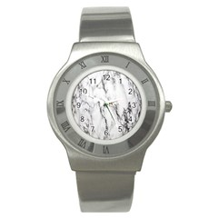 Marble Granite Pattern And Texture Stainless Steel Watch