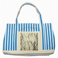 Marble Granite Pattern And Texture Striped Blue Tote Bag by Nexatart