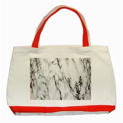 Marble Granite Pattern And Texture Classic Tote Bag (red) by Nexatart