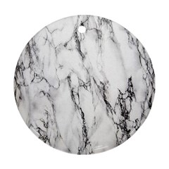 Marble Granite Pattern And Texture Round Ornament (two Sides) by Nexatart