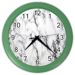 Marble Granite Pattern And Texture Color Wall Clocks by Nexatart