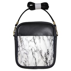 Marble Granite Pattern And Texture Girls Sling Bags by Nexatart